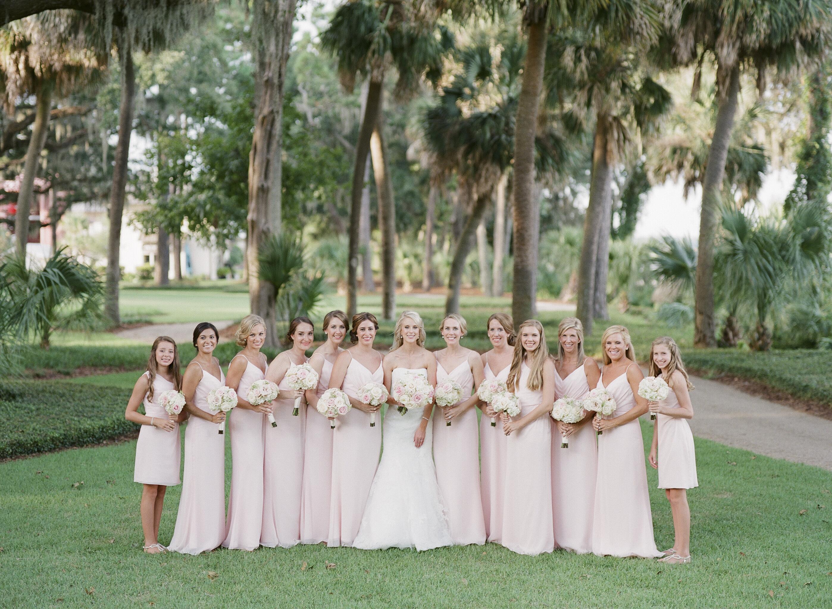 Pink Jim Hjelm Bridesmaids