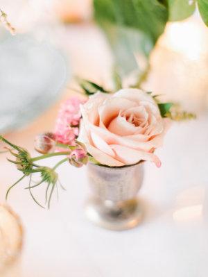 Pink Rose in Bud vase