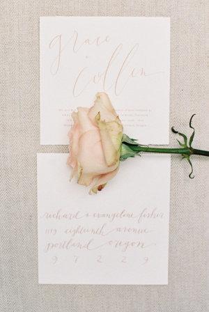 Pink Wedding Calligraphy