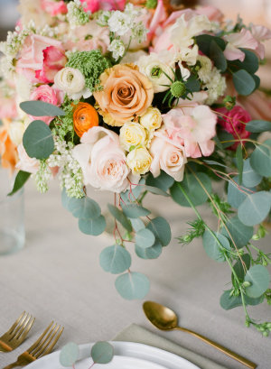 Pink and Peach Wedding Florals