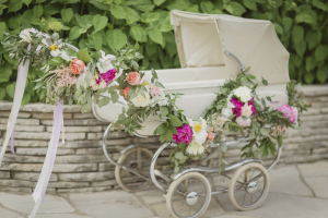 Pram Decorated with Flowers
