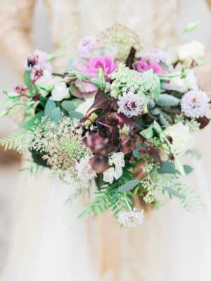 Purple And Greenery Bouquet By The English Garden