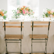 Rustic Chairs at Classic Wedding Table