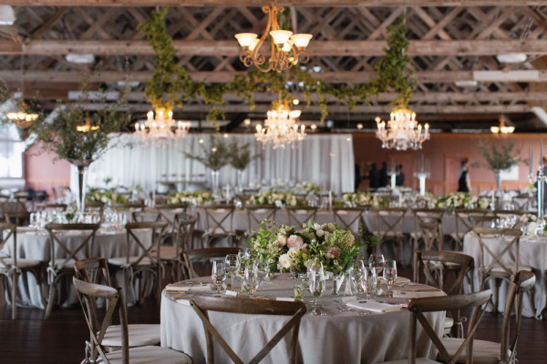 Rustic Green and Brown Reception