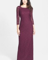 Scalloped Lace Gown Mullberry