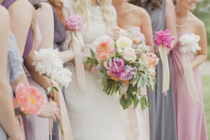 Shades of Purple Bridesmaids