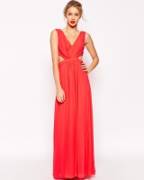 Side Cutout Maxi Dress Front