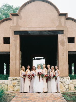 Silver and Lavender Bridesmaids
