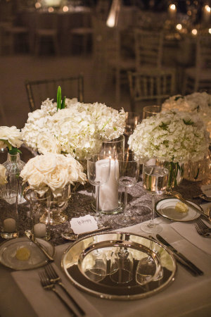 Silver and White Wedding Reception