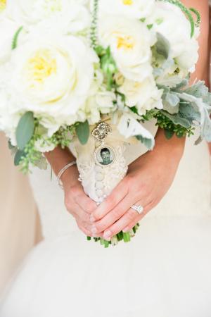 Vintage Lace on Bouquet