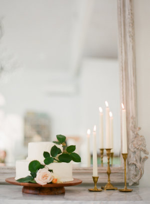 Vintage Mirror and Candlesticks
