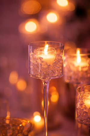 Votive Candles in Tall Holder