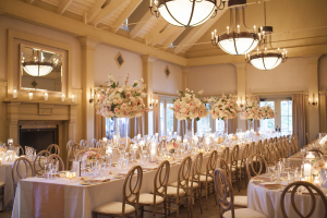 Blush Candlelit Reception