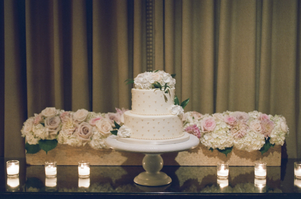 Wedding Cake Table with Roses