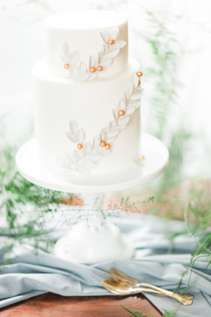 Wedding Cake with Sugar Laurels