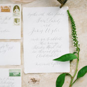 Wedding Invitations in Gray Calligraphy
