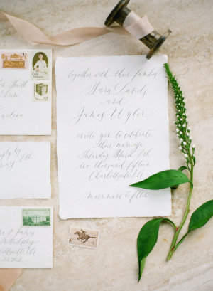 Wedding Invitations in Gray Calligraphy