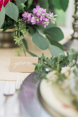 White Calligraphy Place Cards
