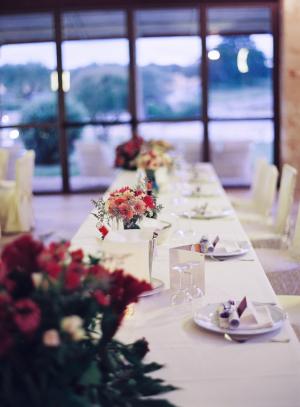 White and Fuchsia Reception