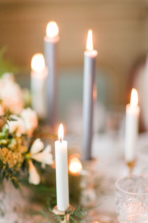 White and Gray Taper Candles