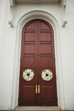 Wreaths on Church Doors
