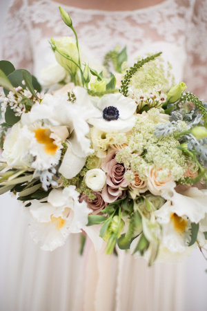 Yellow and Green Pastel Wedding Bouquet