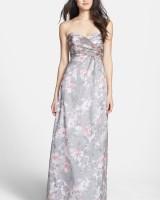 Amsale Amore Print Silk Chiffon Gown