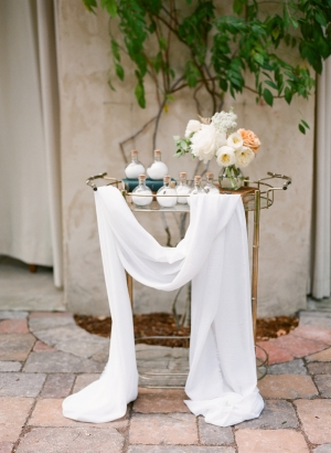 Bar Cart Wedding Styling