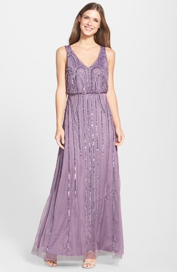 Beaded Mesh Blouson Gown - Elizabeth Anne Designs: The Wedding Blog