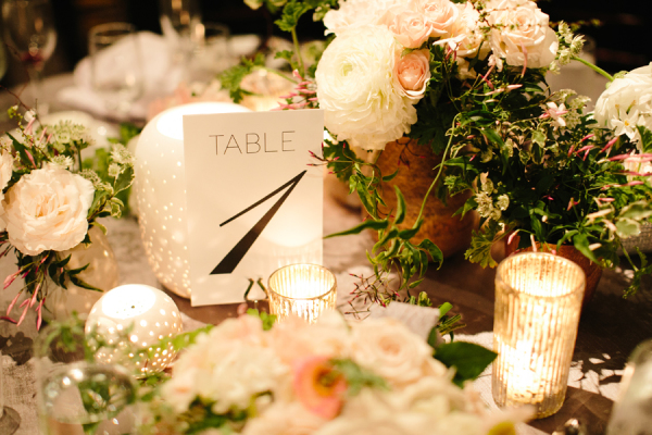 Blush and White Centerpiece