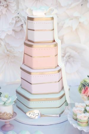 Boxed Wedding Cake