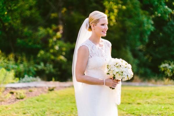 Bride in Amsale Taylor