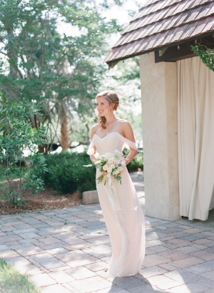 Bridesmaid in Pale Blush