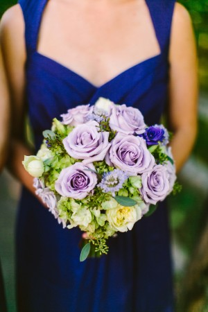 Bridesmaid with Purple Bouquet
