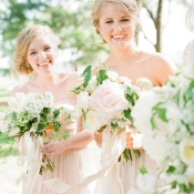 Bridesmaids in Blush Yellow