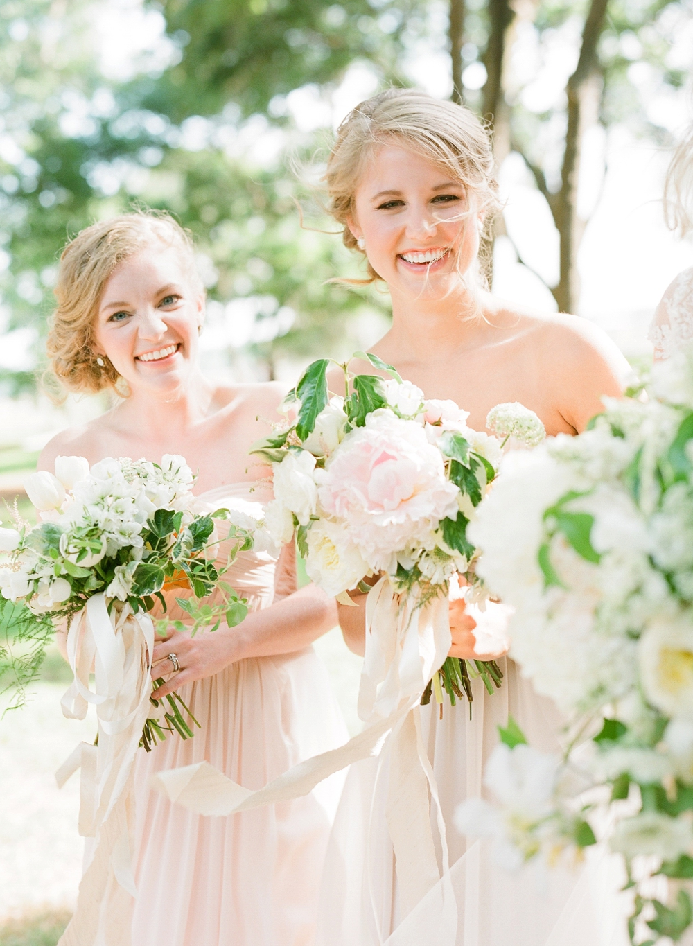 Bridesmaids in Blush Yellow