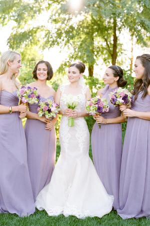 Bridesmaids in Pastel Purple