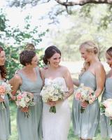 Bridesmaids in Seafoam Green