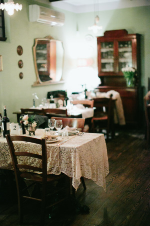 Brown Antique Wedding Reception