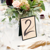 Burgundy and Pink Centerpiece