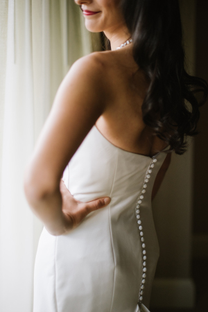 Buttons on Wedding Gown