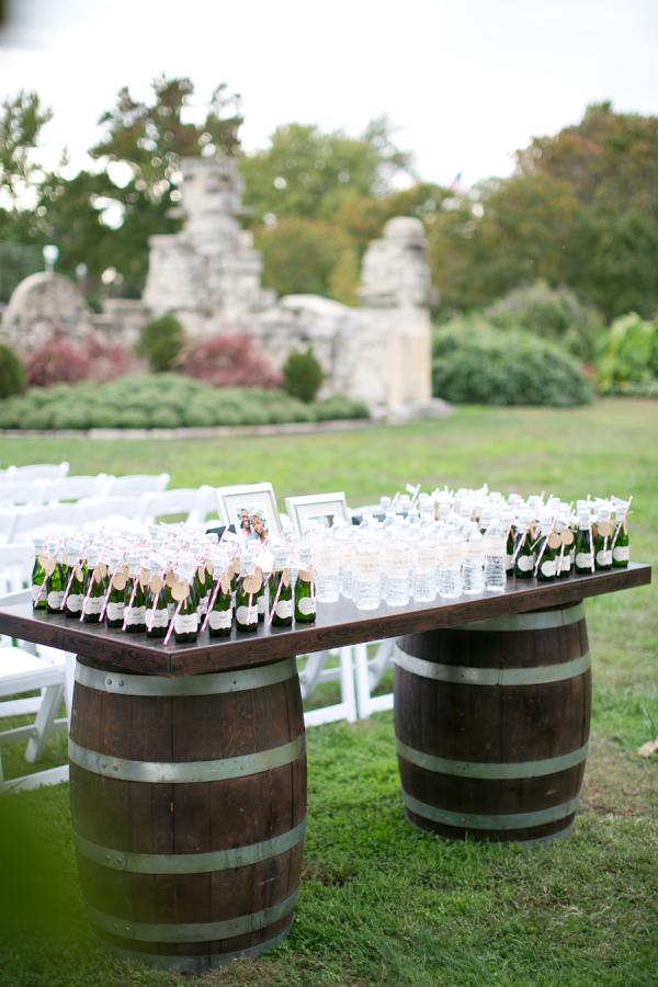 Drinks at Wedding Ceremony