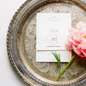 Elegant Neutral Wedding Invitations
