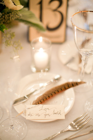 Feather at Place Setting