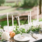 Garland of Greenery Centerpiece