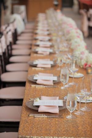 Gold Sequin Wedding Linen
