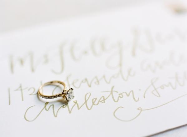 Gold Wedding Calligraphy