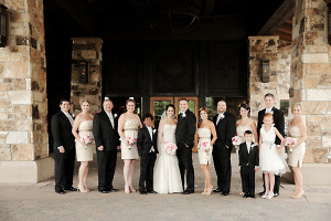 Gold and Black Bridal Party