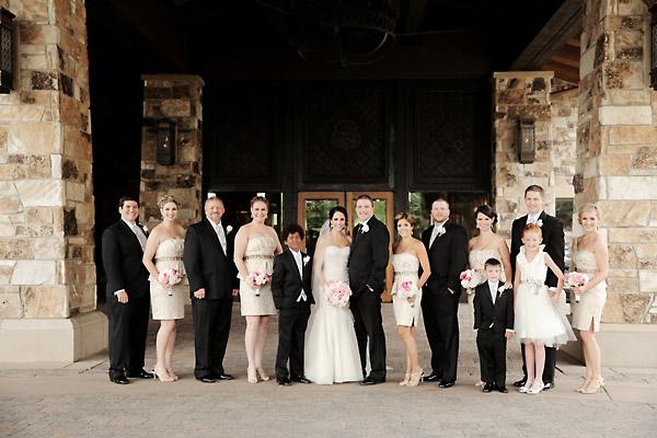 Gold and Black Bridal Party - Elizabeth Anne Designs: The Wedding Blog