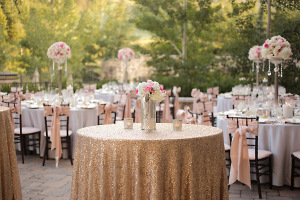 Gold and Pink Reception